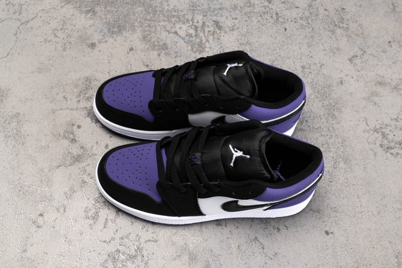 Air Jordan 1 Low GS Court Purple 3