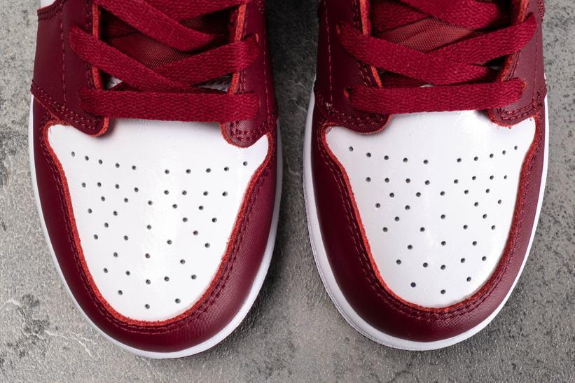 Air Jordan 1 Low GS Noble Red 4