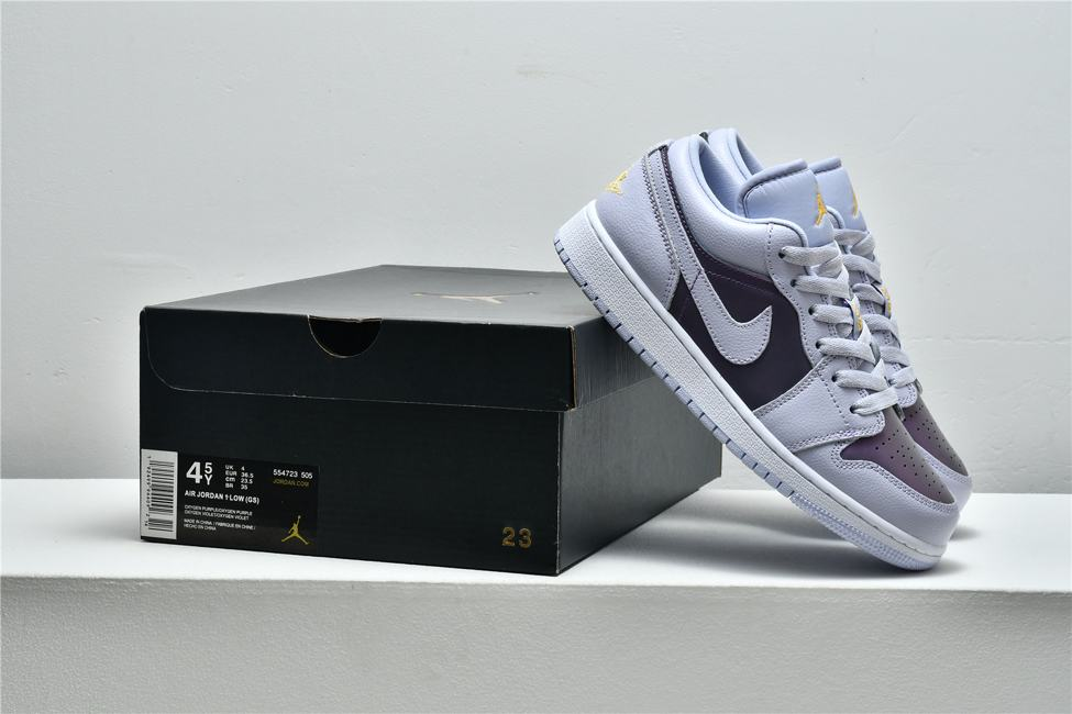 Air Jordan 1 Low GS Oxygen Purple 8