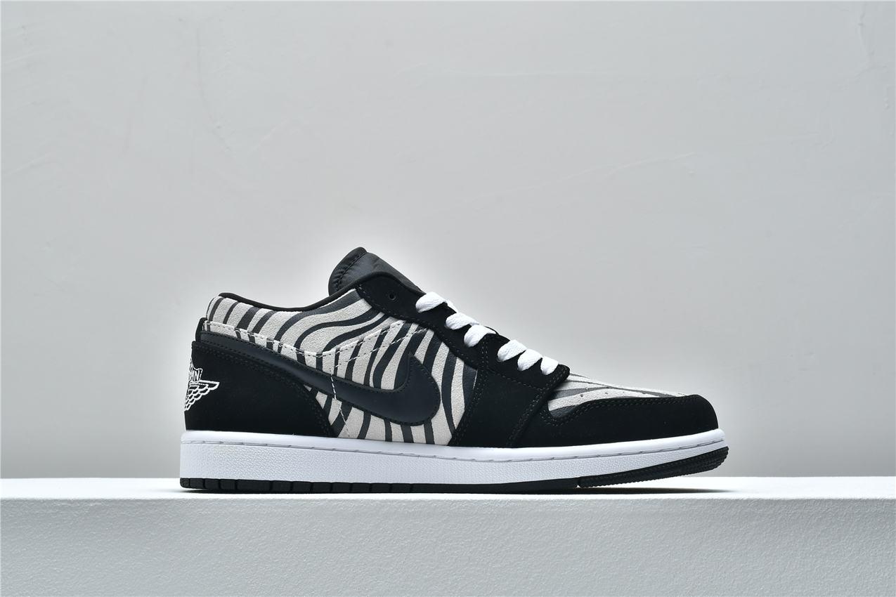 Air Jordan 1 Low GS Zebra 2