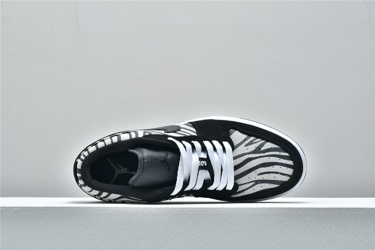 Air Jordan 1 Low GS Zebra 3