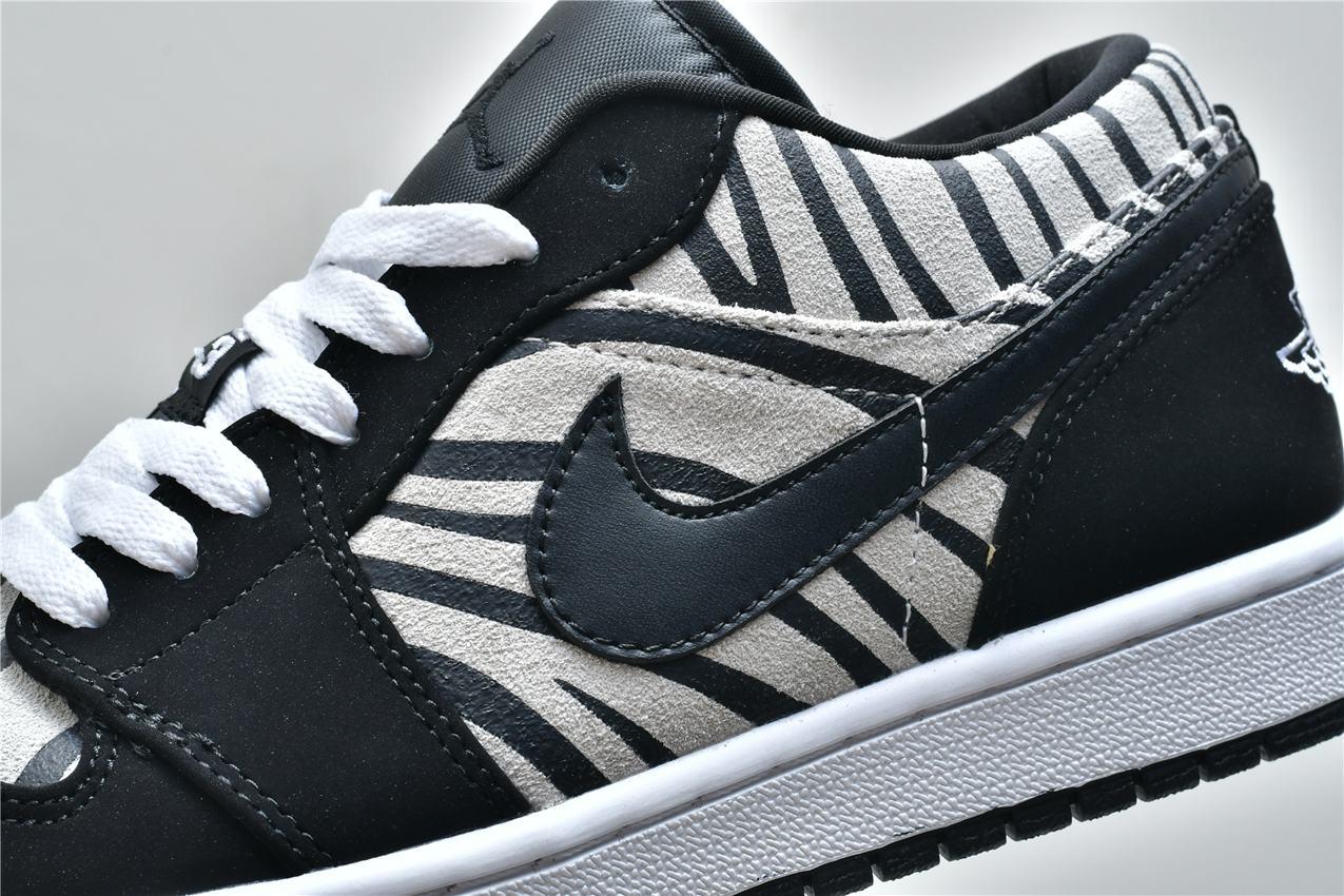 Air Jordan 1 Low GS Zebra 7