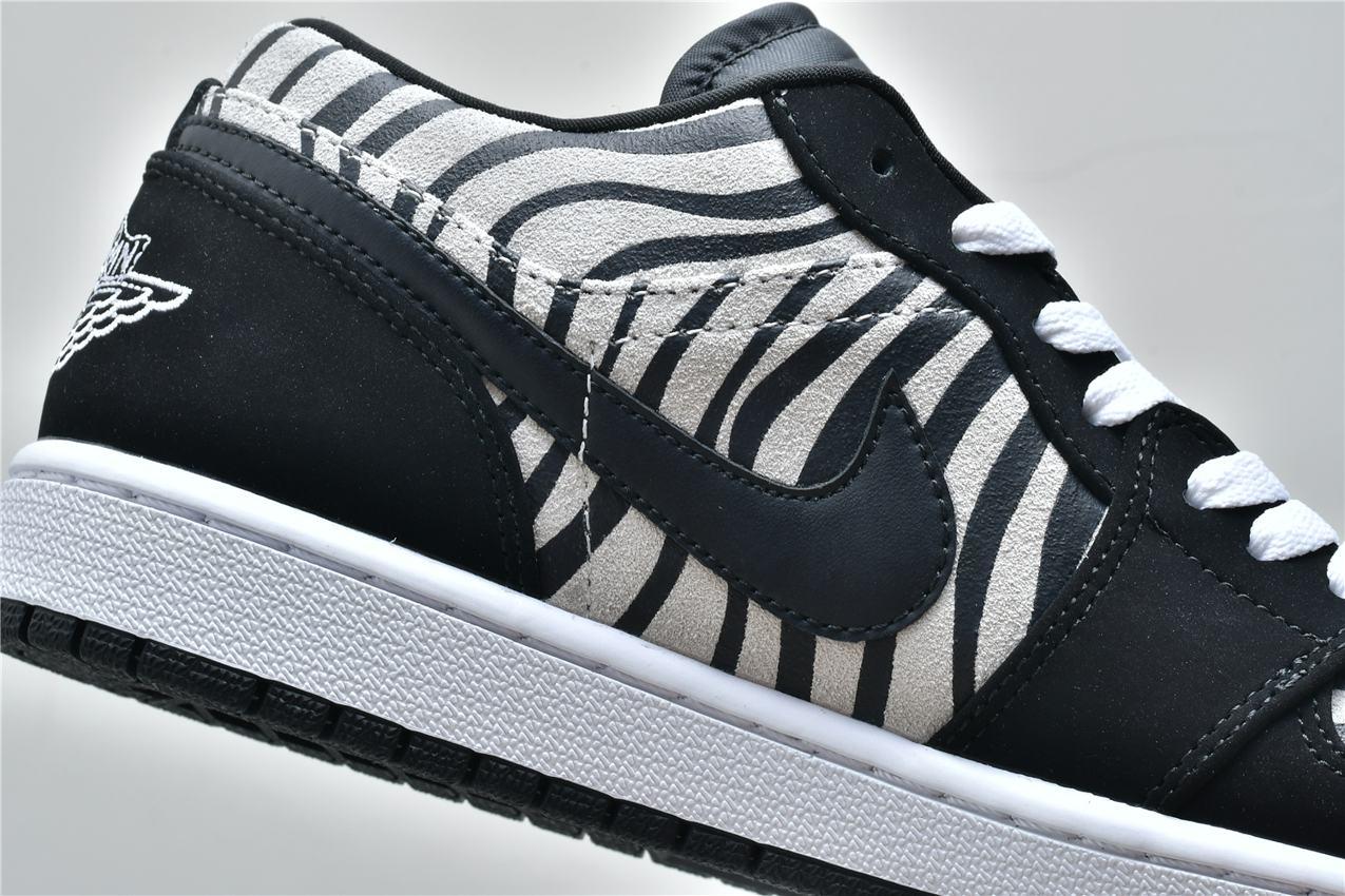 Air Jordan 1 Low GS Zebra 8