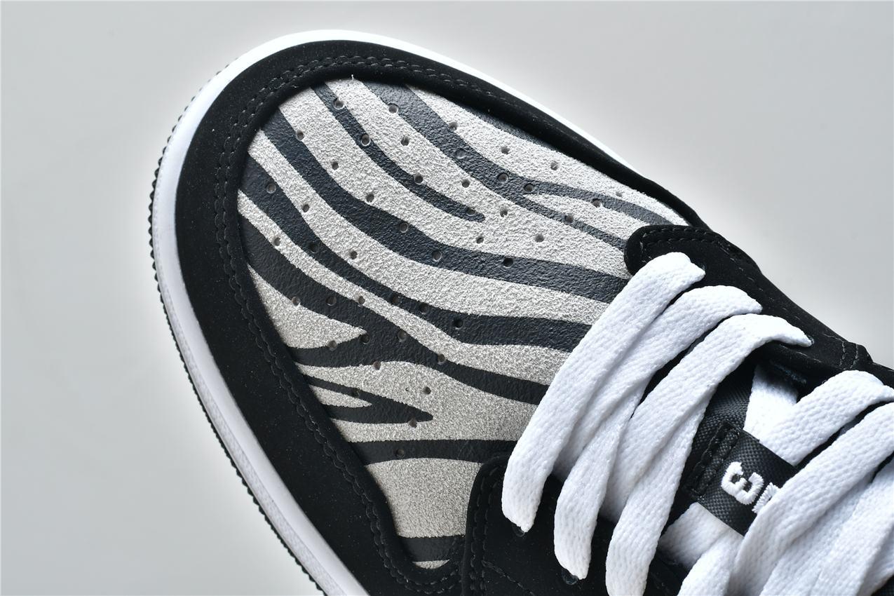 Air Jordan 1 Low GS Zebra 9