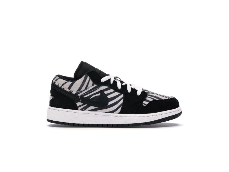 Air Jordan 1 Low GS Zebra