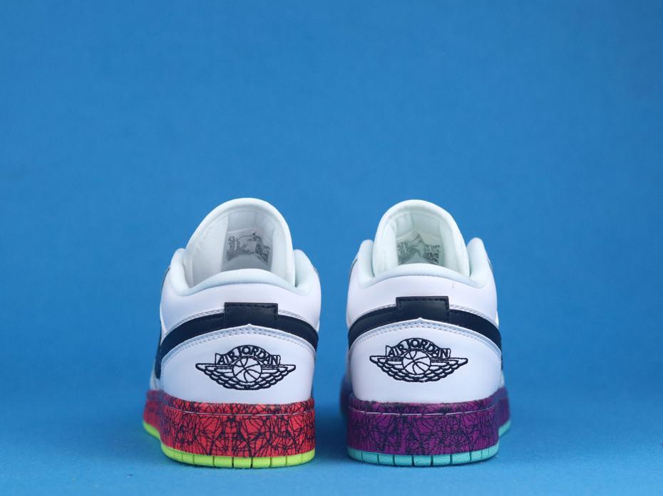Air Jordan 1 Low Multi Color Midsoles White GS 6