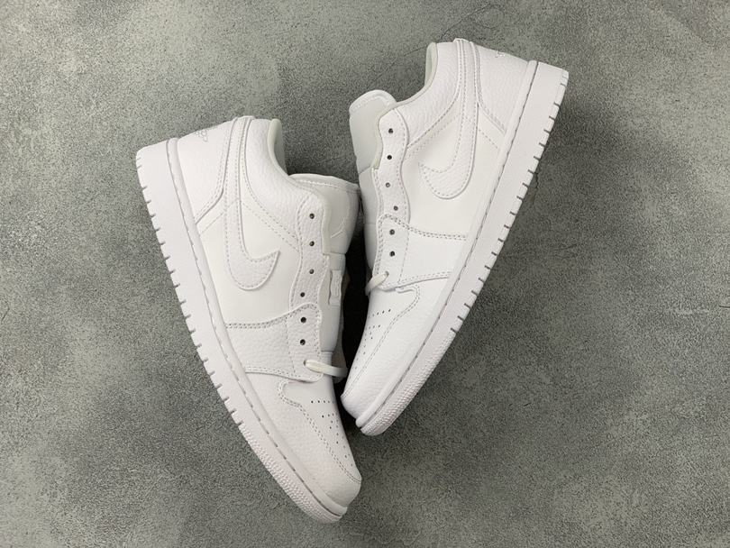 Air Jordan 1 Low Triple White Fog Grey 7