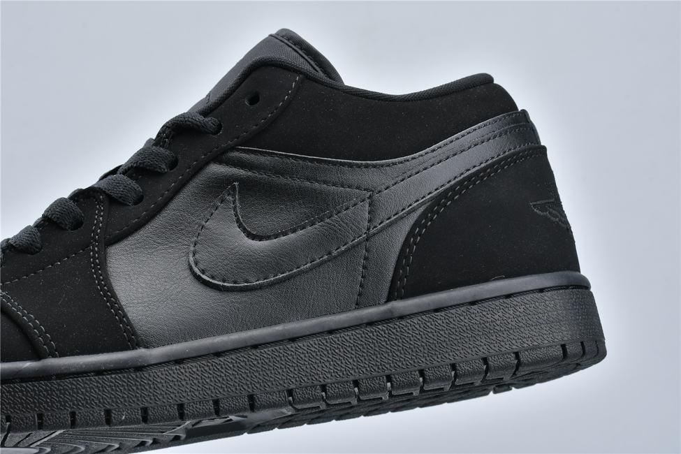 Air Jordan 1 Retro Low Triple Black 12