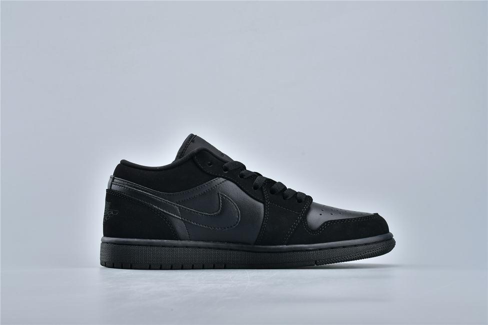 Air Jordan 1 Retro Low Triple Black 2