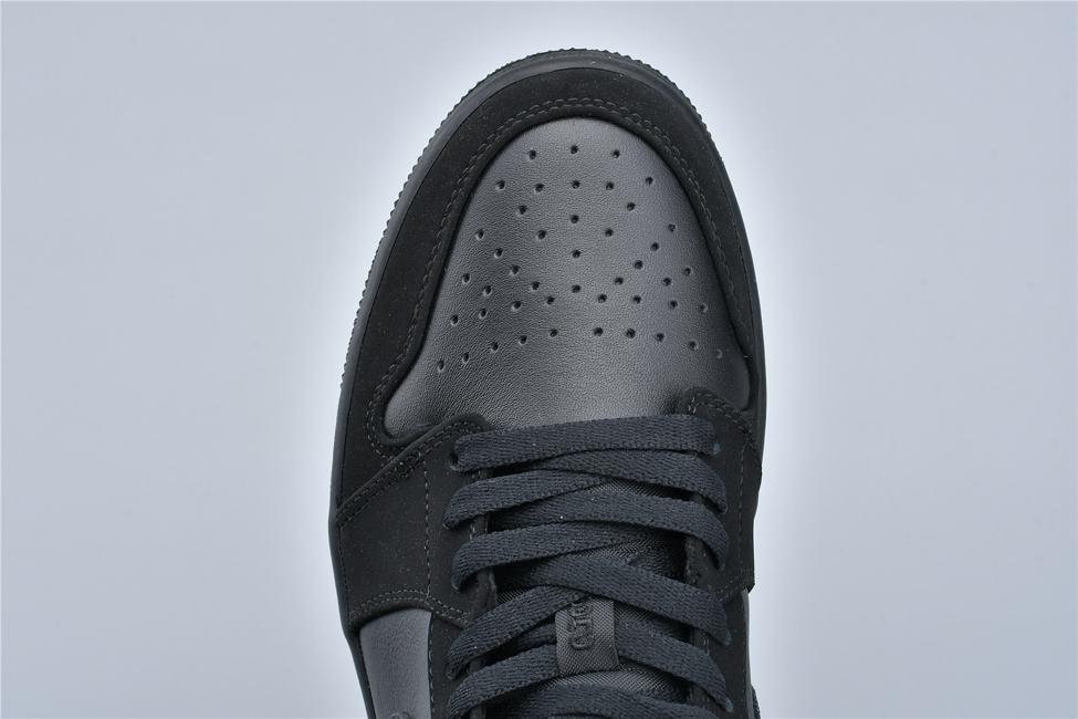 Air Jordan 1 Retro Low Triple Black 9