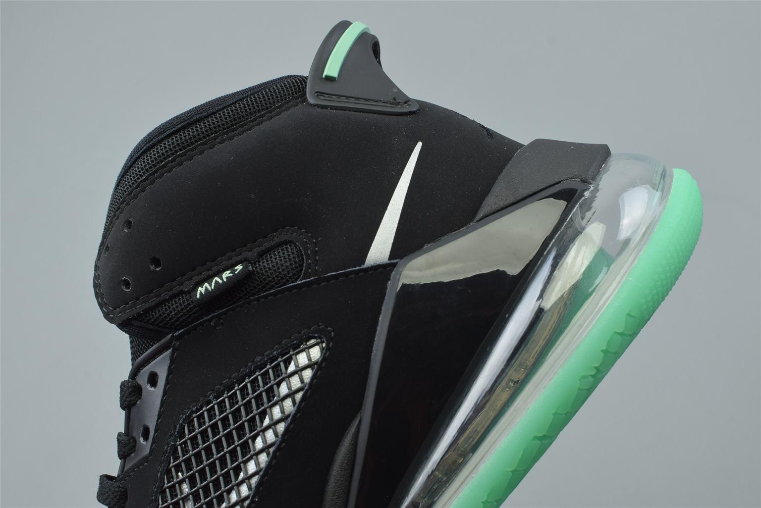 Air Jordan Mars 270 Black Green Glow 5