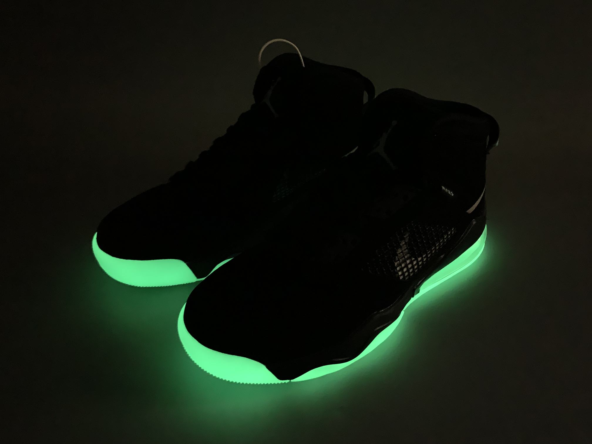 Air Jordan Mars 270 Black Green Glow 9