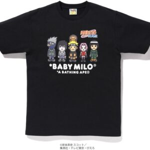BAPE x Naruto Milo 3 Tee Black