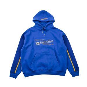 GRAFWU x Mitchell Ness Blue Hoodie