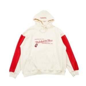 GRAFWU x Mitchell Ness Cream Red Hoodie