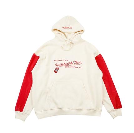 GRAFWU x Mitchell Ness Cream Red Hoodie