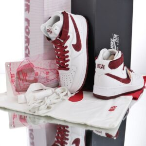 Nike Air Force 1 Hi Retro QS White Team Red 1