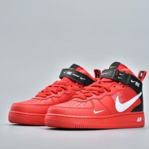 Nike Air Force 1 Mid Utility University Red 1