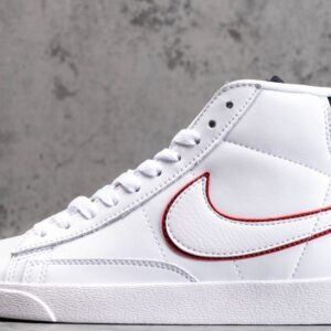 Nike Blazer Mid White Blackened Blue Red Crush W 1