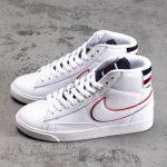 Nike Blazer Mid White Blackened Blue Red Crush W 2