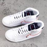 Nike Blazer Mid White Blackened Blue Red Crush W 3