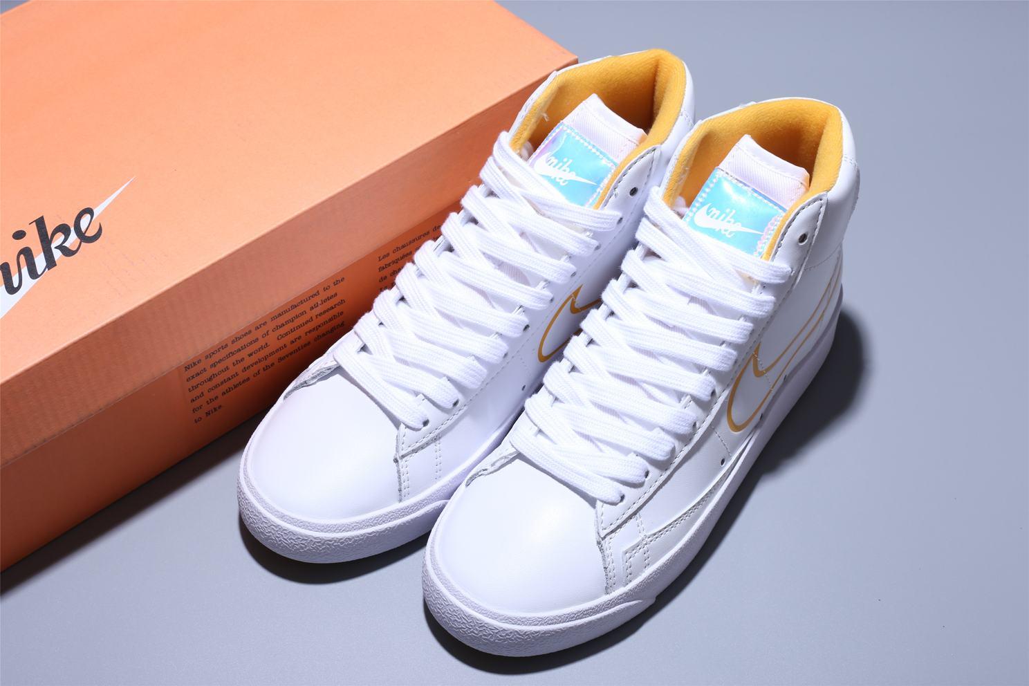 Nike Blazer Mid White Topaz Gold W 12