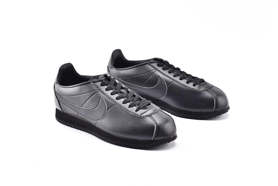 Nike Classic Cortez Leather Triple Black 2