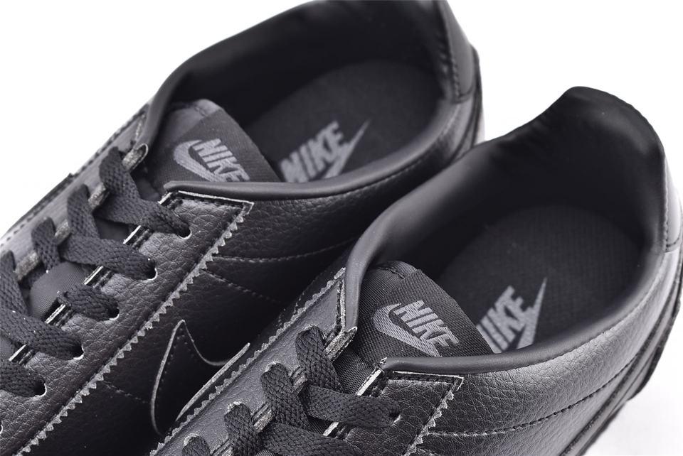 Nike Classic Cortez Leather Triple Black 4