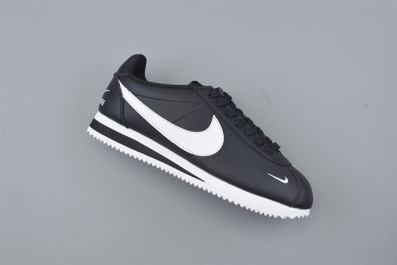 Nike Classic Cortez Mini Swoosh Black White 1