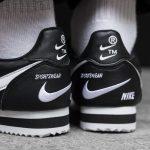 Nike Classic Cortez Mini Swoosh Black White 12