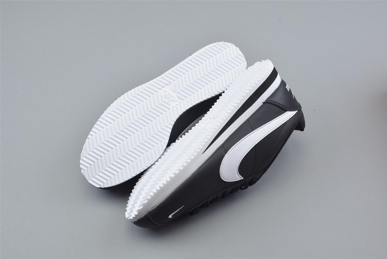Nike Classic Cortez Mini Swoosh Black White 2