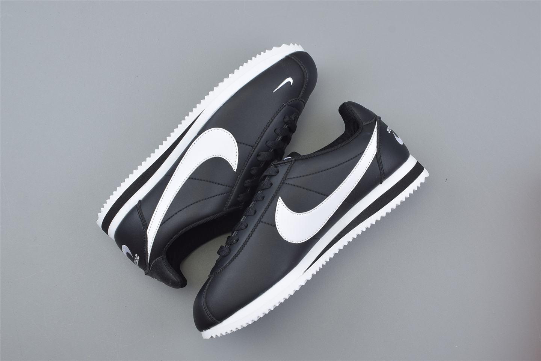 Nike Classic Cortez Mini Swoosh Black White 3