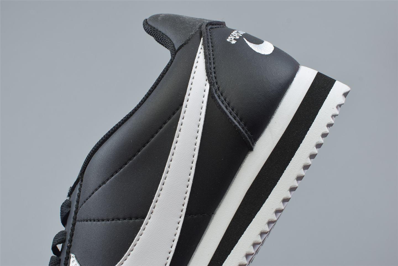 Nike Classic Cortez Mini Swoosh Black White 5