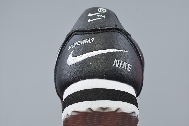Nike Classic Cortez Mini Swoosh Black White 6