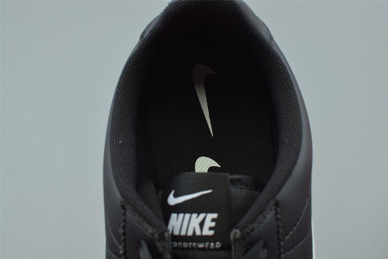 Nike Classic Cortez Mini Swoosh Black White 7