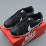 Nike Classic Cortez Mini Swoosh Black White 8