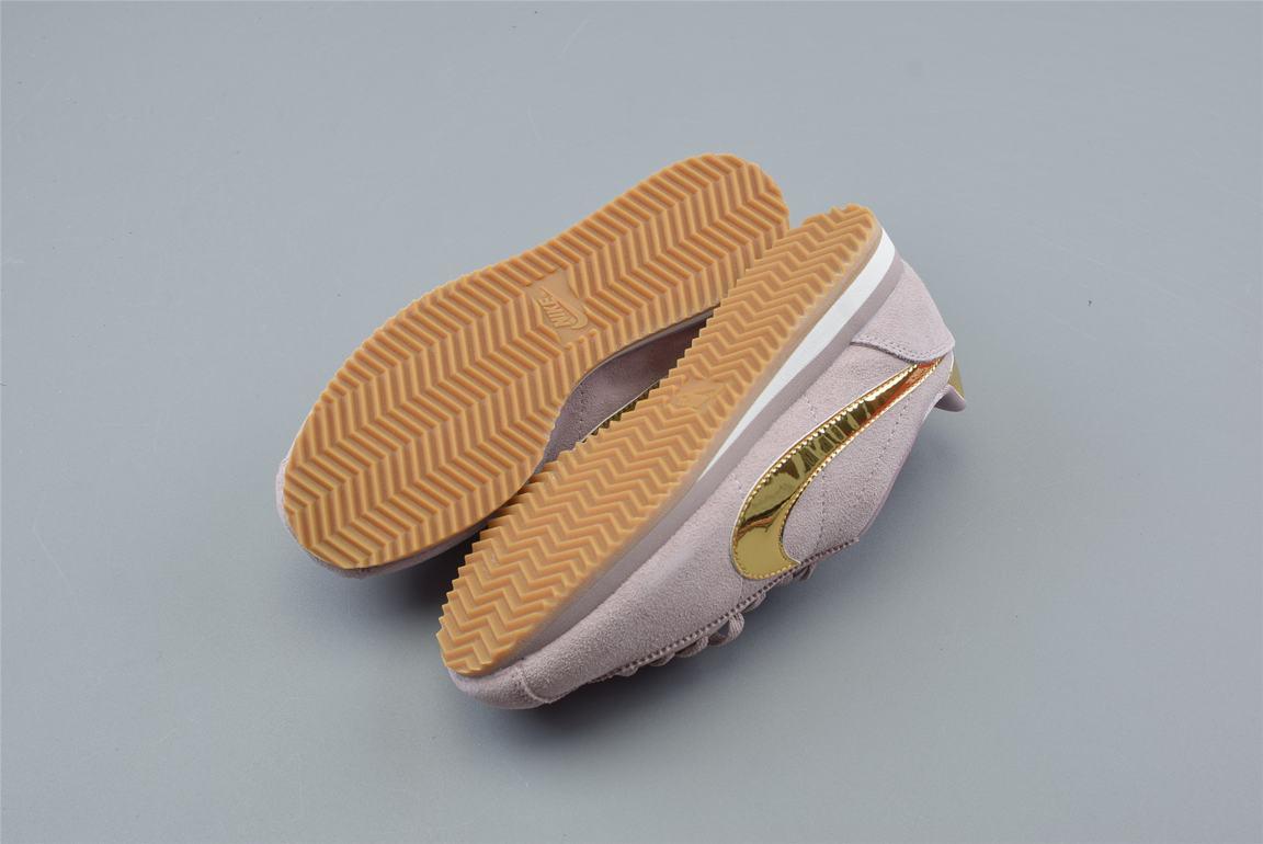Nike Classic Cortez SE Diffused Taupe Metallic Gold W 2