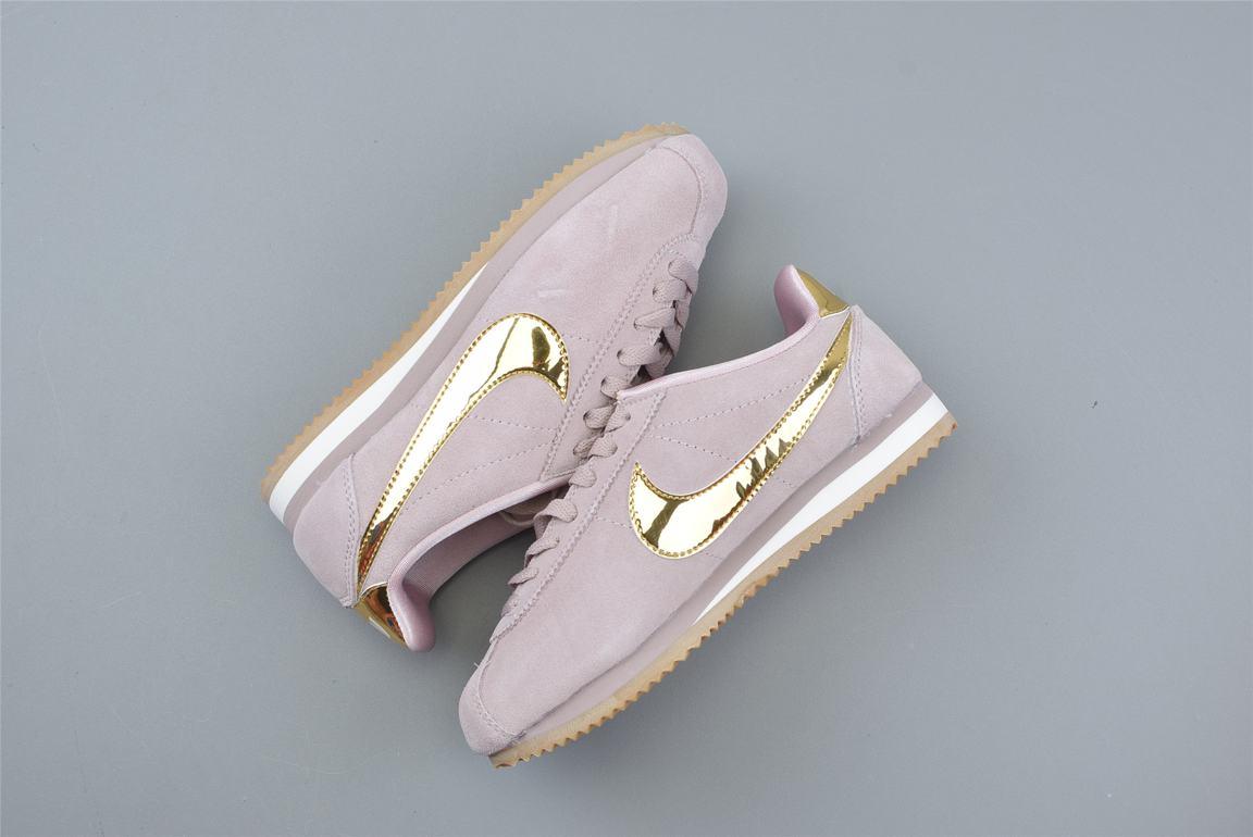 Nike Classic Cortez SE Diffused Taupe Metallic Gold W 3