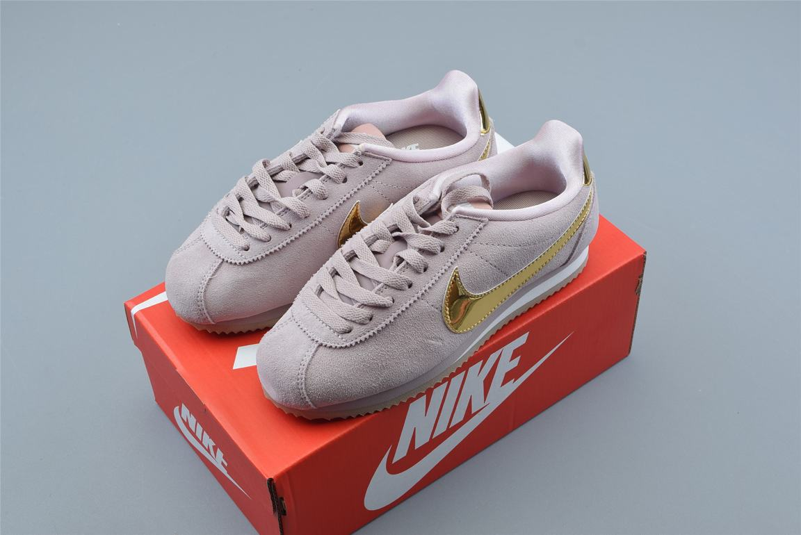 Nike Classic Cortez SE Diffused Taupe Metallic Gold W 8