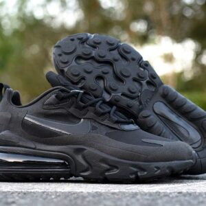 Nike Wmns Air Max 270 React Triple Black 1