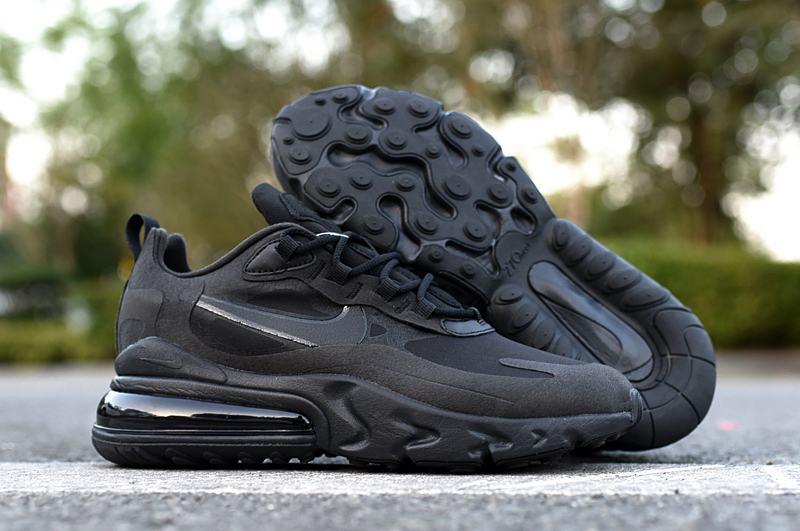 Nike Wmns Air Max 270 React Triple Black 1