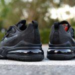 Nike Wmns Air Max 270 React Triple Black 3