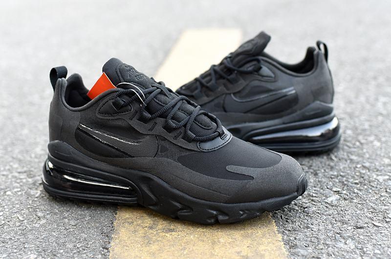 Nike Wmns Air Max 270 React Triple Black 5