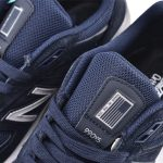Wmns New Balance 990 Wide Navy Silver 2