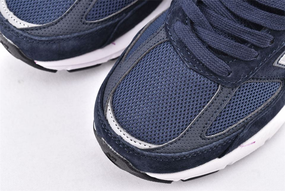 Wmns New Balance 990 Wide Navy Silver 3
