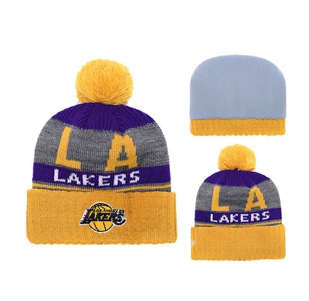 2019 Los Angeles Lakers Yellow Grey Hat
