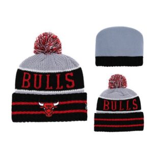 2019 NBA Chicago Bulls Red Grey Hat 2