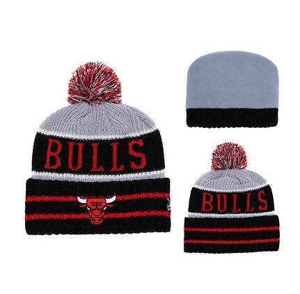 2019 NBA Chicago Bulls Red Grey Hat 2