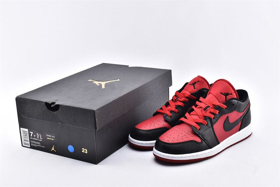 Air Jordan 1 Low BG Gym Red Black 10