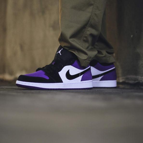Air Jordan 1 Low Court Purple 16
